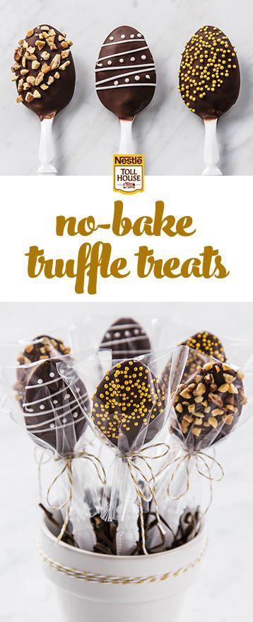 DIY Dark Chocolate Truffle Spoons.