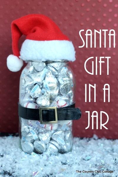 Santa Mason Jar.