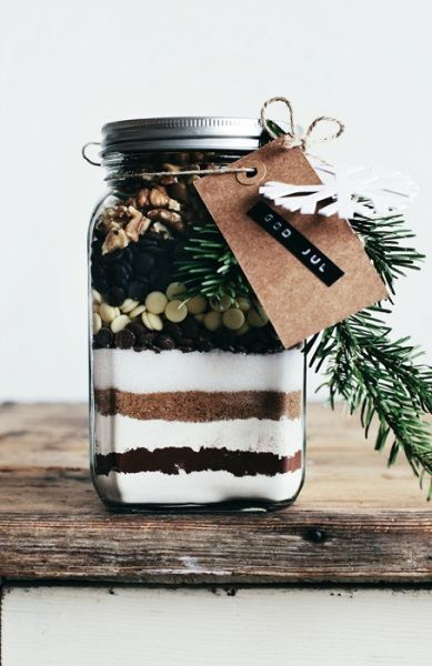 Chocolate Brownie Mix in a Jar.
