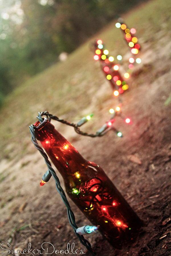 Beer Bottle Christmas Lights.