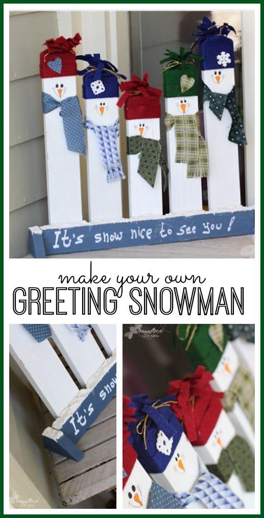 DIY Greeting Snowmen.