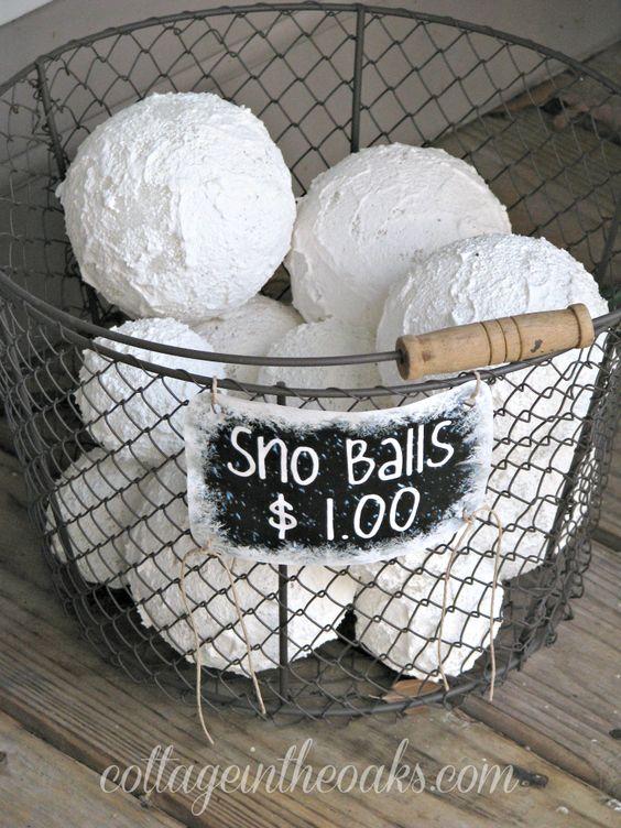 Faux Snow Balls.