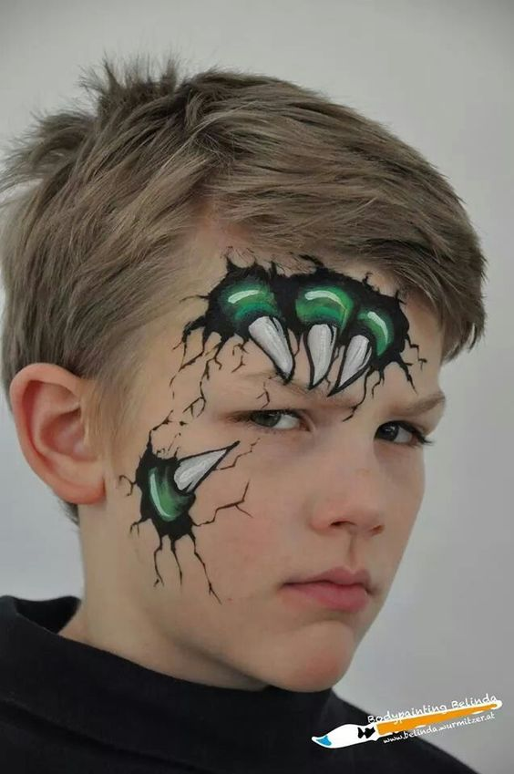 Cool Monster Face Painting.