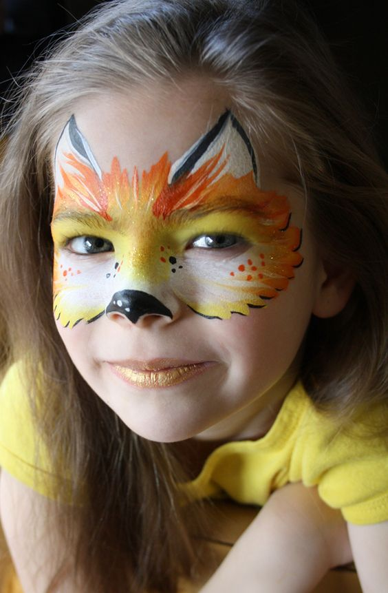 Fox Face Painting.