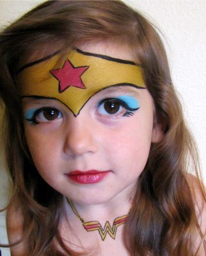 Wonder Woman Face Painting.