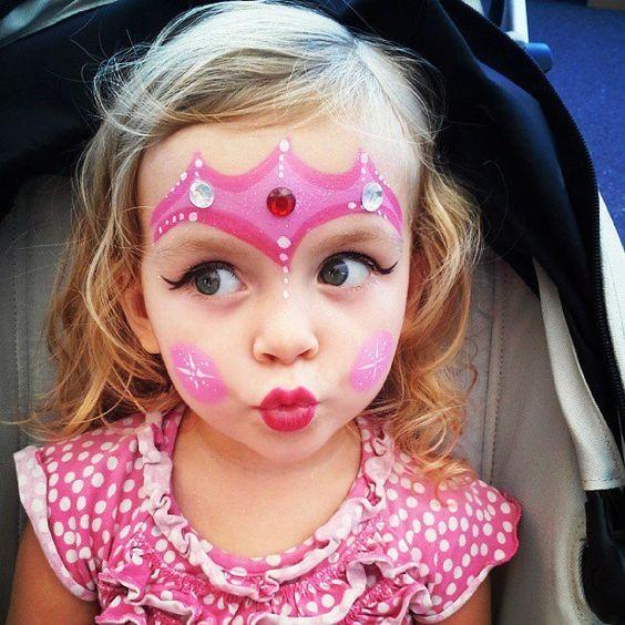 Princess Face Painting.
