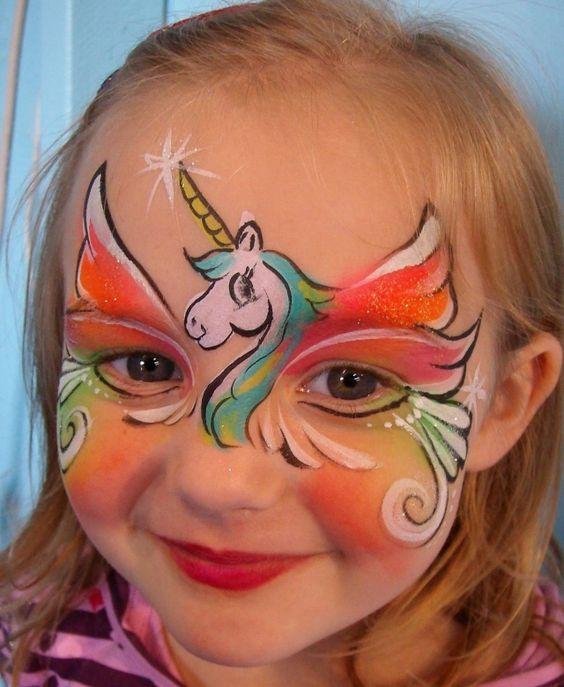 Unicorn Face Paint.