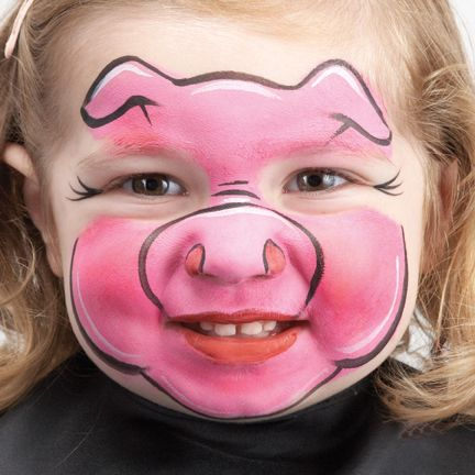 Cute Pig Face Paint.