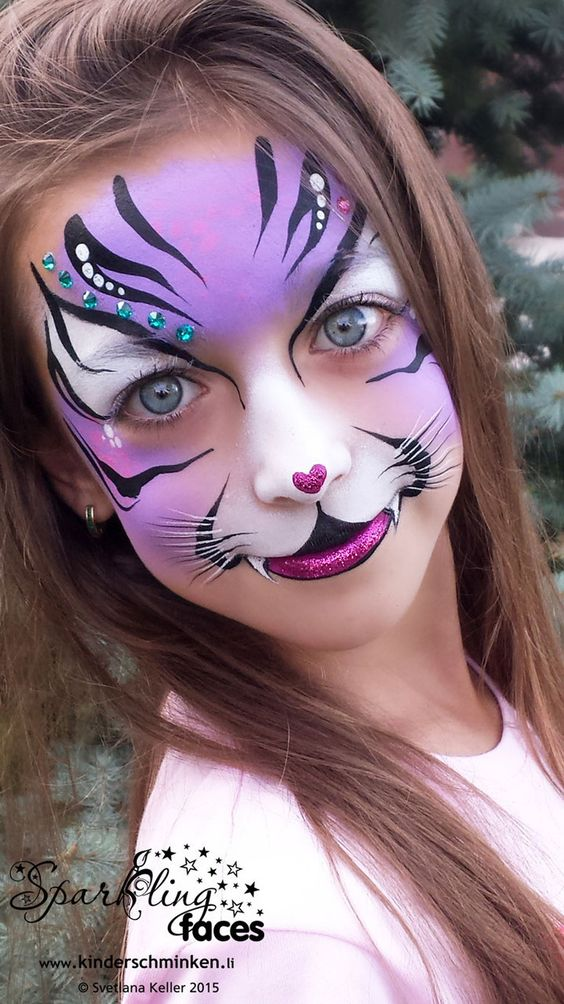 Tiger Design Facepaint.
