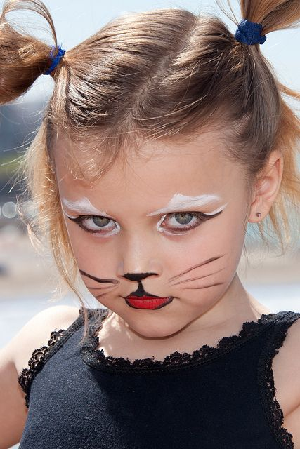 Simple Kitty Cat Face Painting.