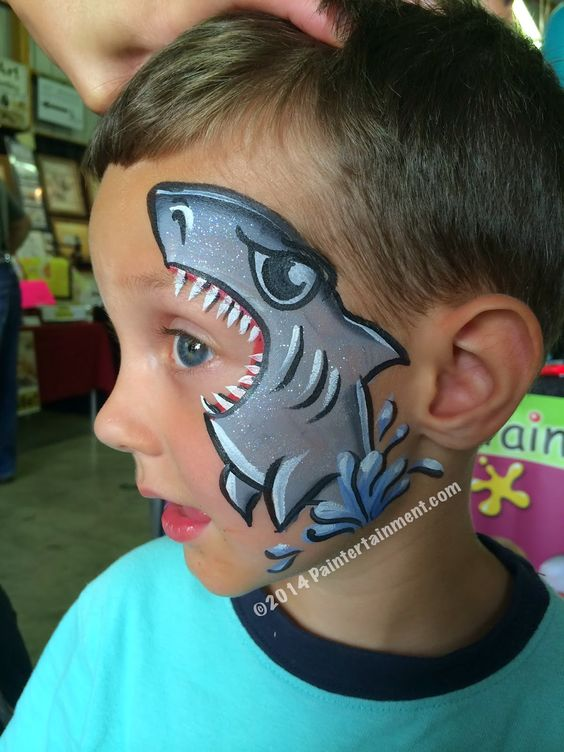 Shark Face Painting.