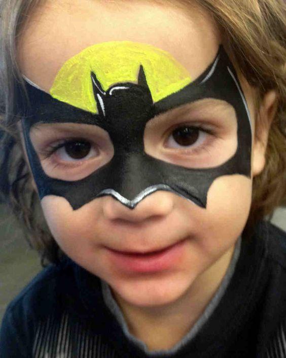 Batgirl Face Paint.