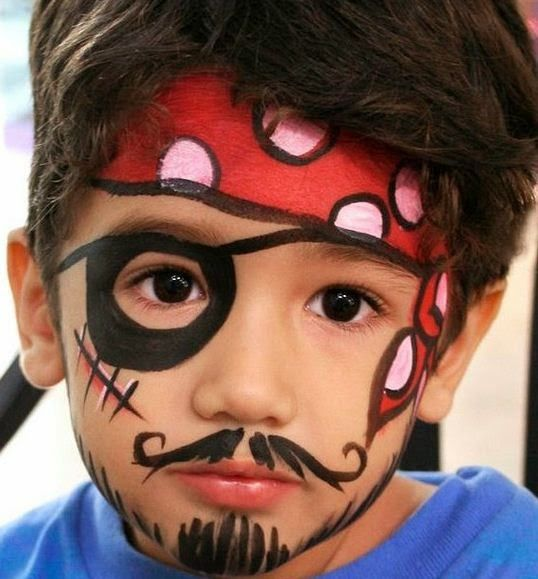 Pirate Face Painting.