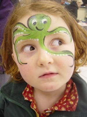Octopus Face Paint.
