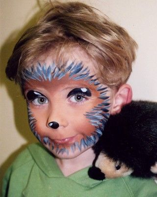 Hedgehog Face Painting.