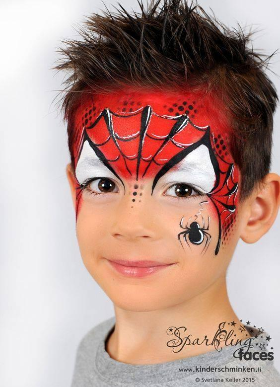 Spiderman Face Painting.