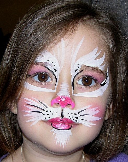 Bunny Face Painting.