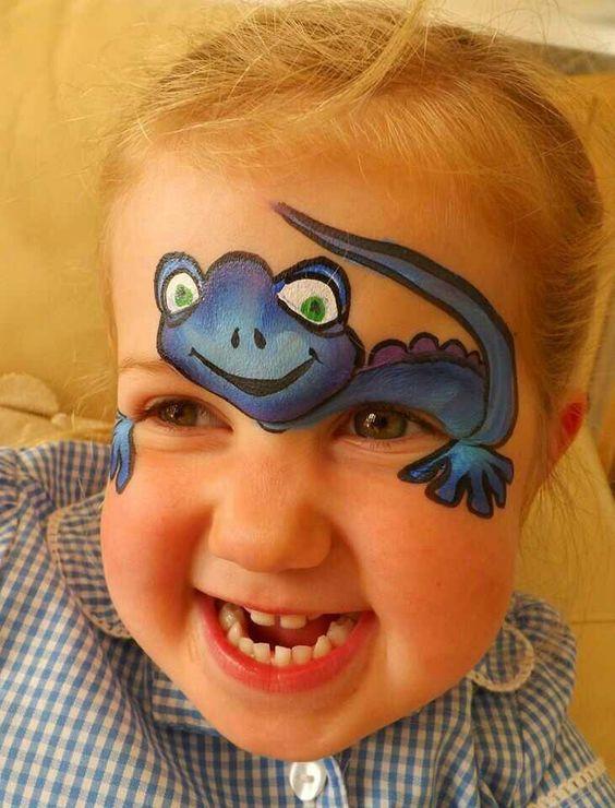 Lizard Face painting.
