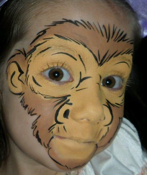 Monkey Face Painting.