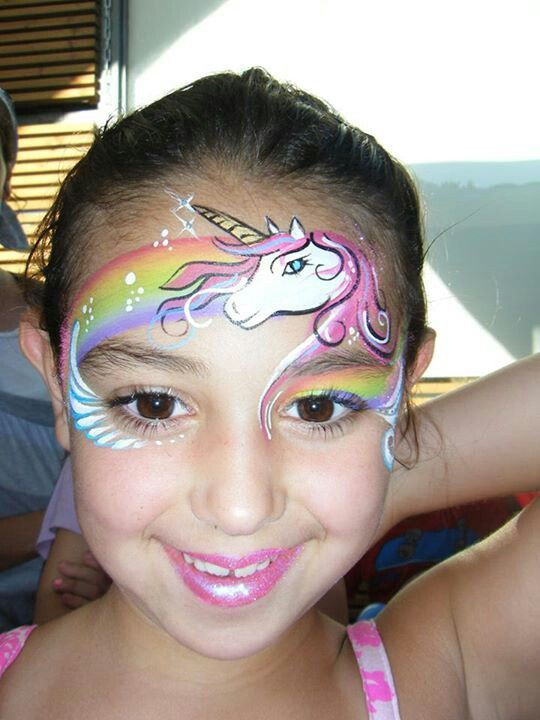 Unicorn Face Painting.