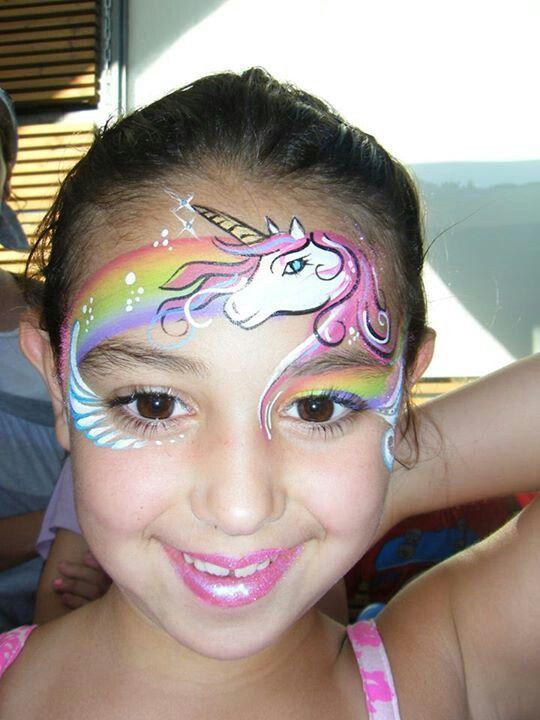 Unicorn Face Painting.