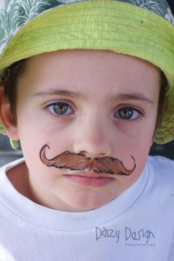 Moustache Face Painting.