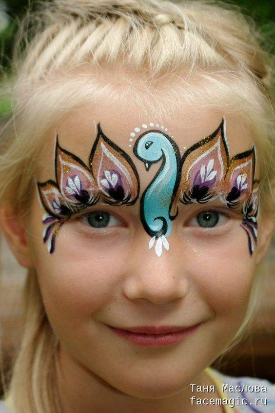 Peacock Face Paint.