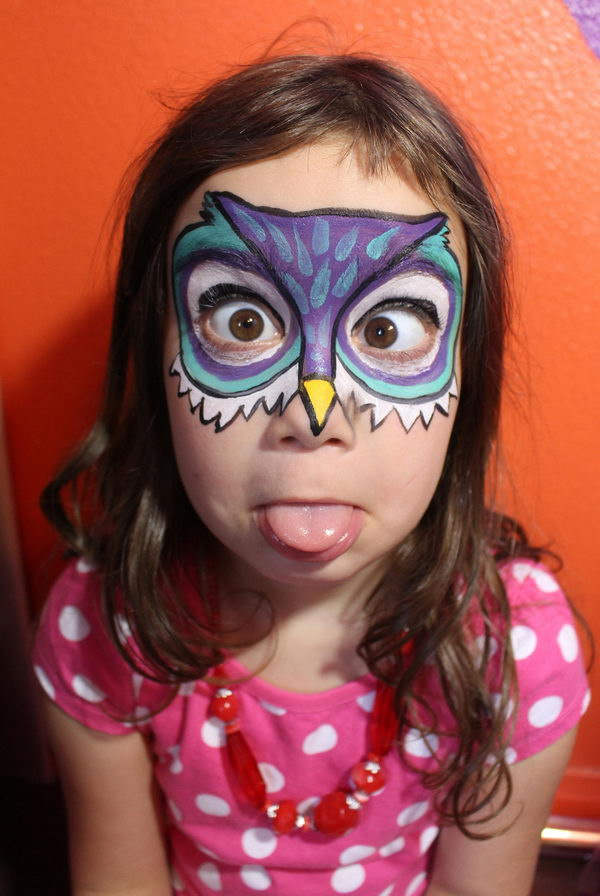 Owl Face Paint.