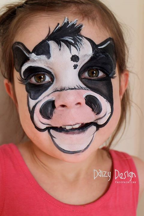 Cow Face Paint.