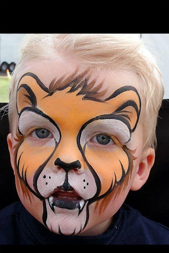 Lion Face Paint.