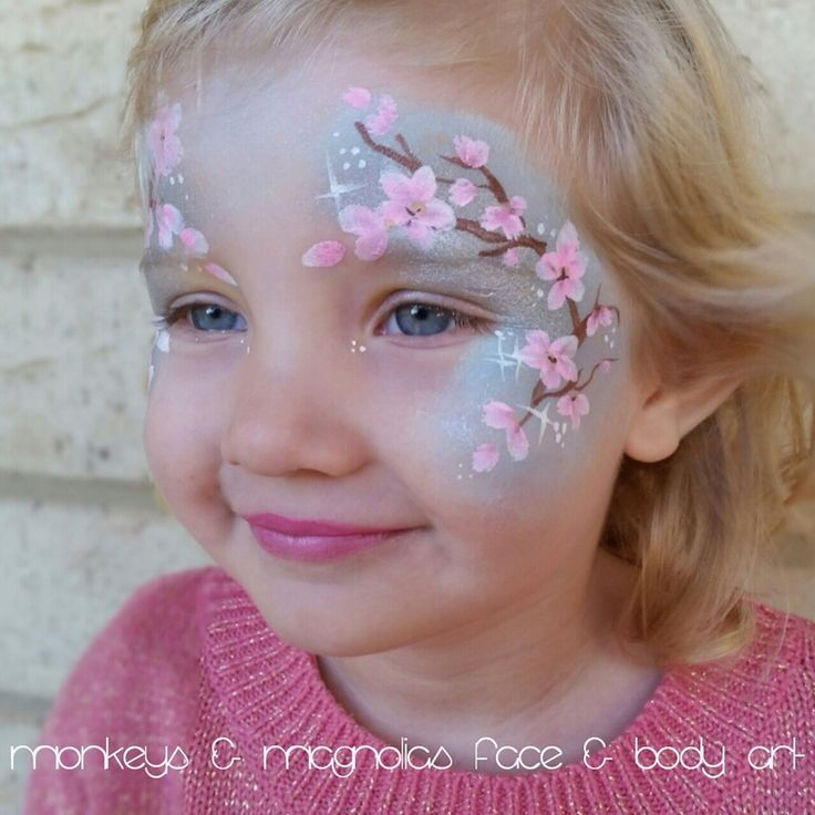 Cherry Blossom Face Painting.