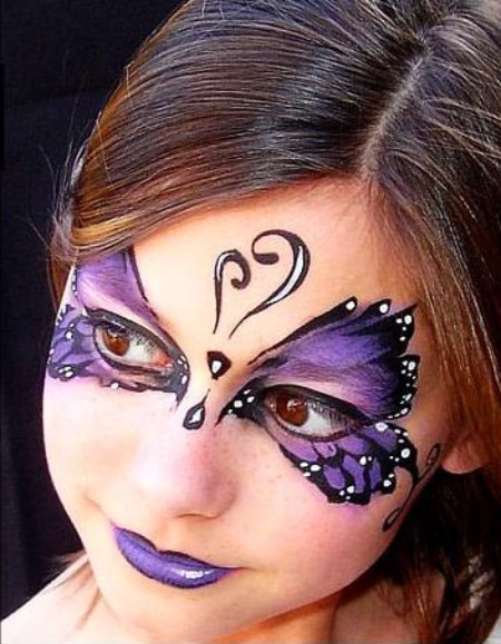 Butterfly Face Painting.