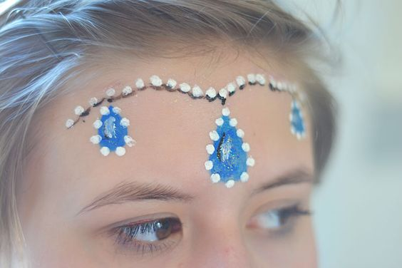 Easy Princess Face Painting.