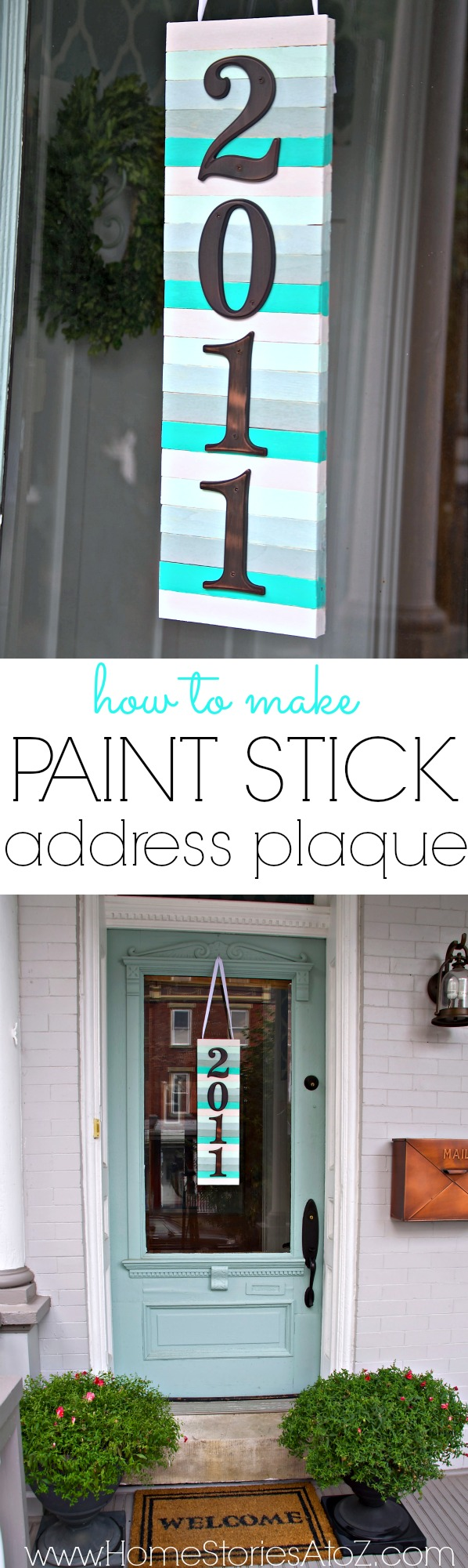 Paint Stick With House Numbers.