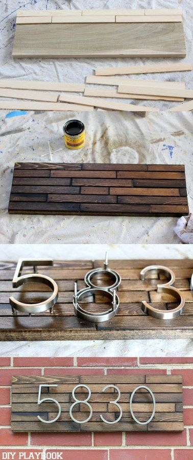 Make This DIY Modern Address Plate For Less Than $30.