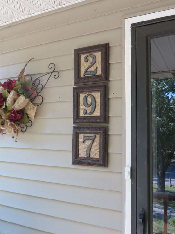 House Numbers Made From Mirror Frames.