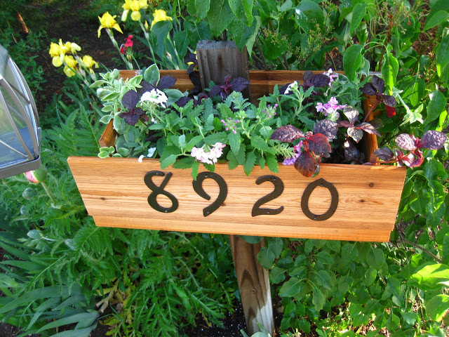 DIY House Number Flower Box.