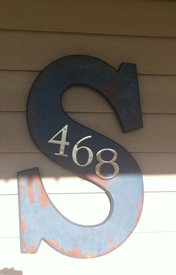 Front Door Monogram with House Number.
