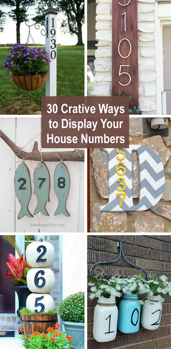 30+ Crative Ways To Display Your House Numbers.