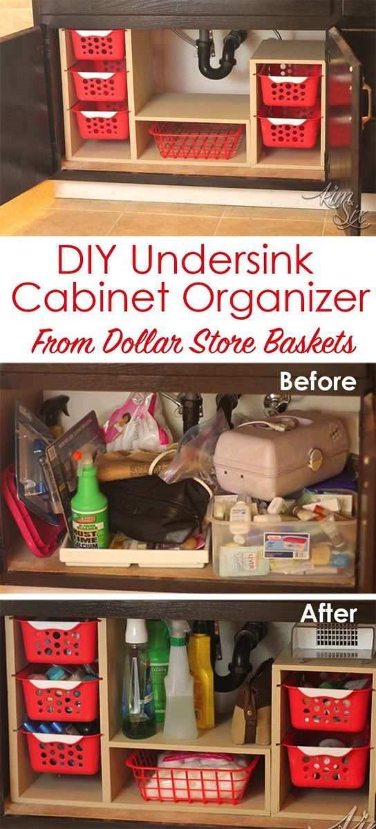Undersink Cabinet Organizer with Pull Out Baskets.
