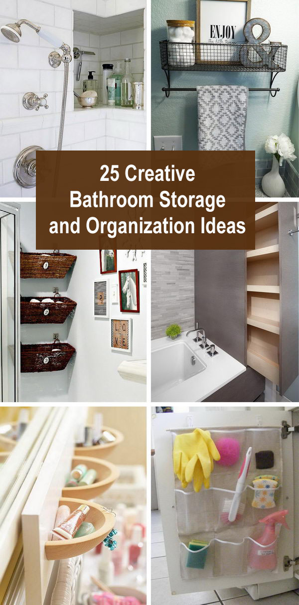 Lots of Creative Bathroom Storage and Organization Ideas.