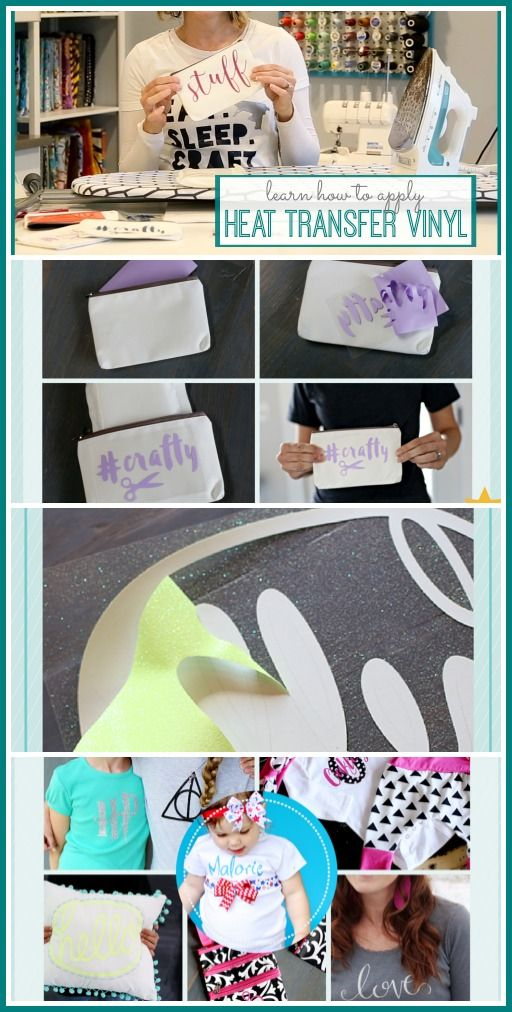 Video Tutorial About How to Apply Heat Transfer Vinyl.