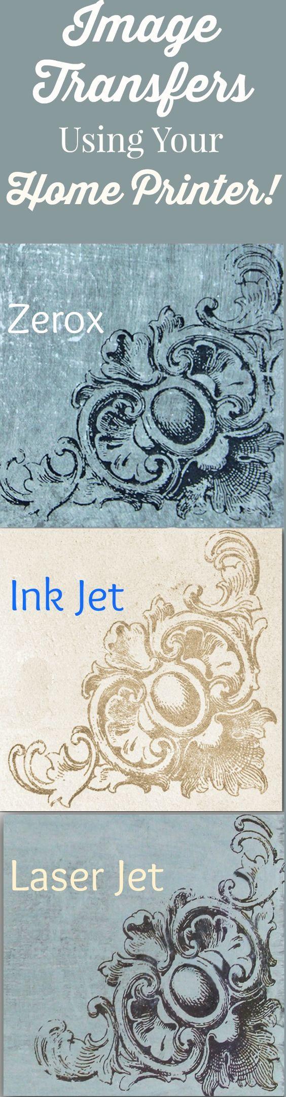 Transferência de imagens usando uma impressora.