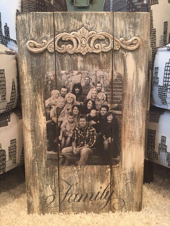 Fotos de paletes e famílias.