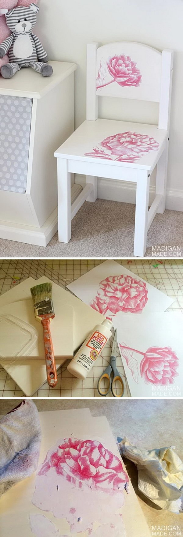 Vintage IKEA Kid's Chair Hack With A Photo Transfer.