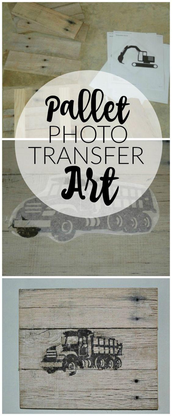 Transforme paletes na decoração da parede perfeita com este método de transferência de foto fácil.