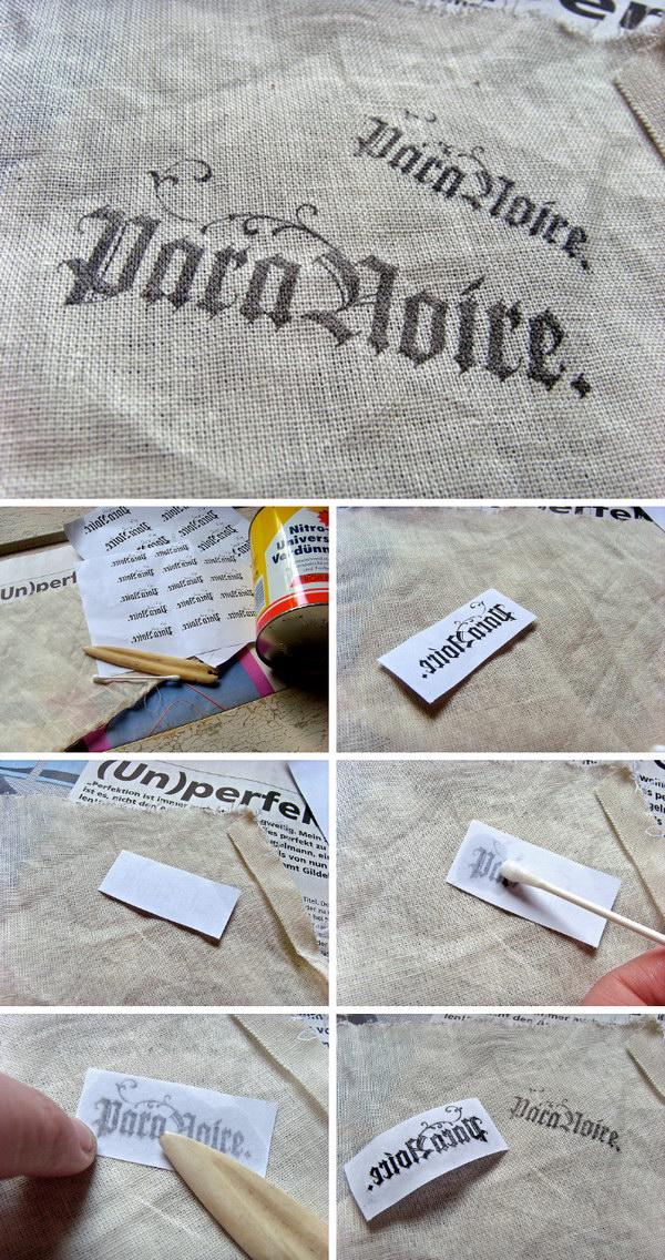 Como transferir uma imagem para praticamente qualquer superfície usando o diluente de tinta.
