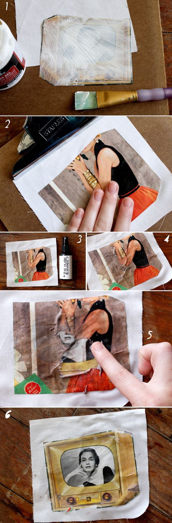Easy Way To Transfer A Photo To Fabric.