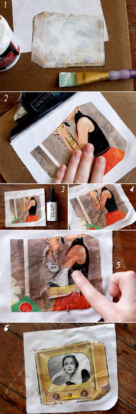 Maneira fácil de transferir uma foto para tecido.