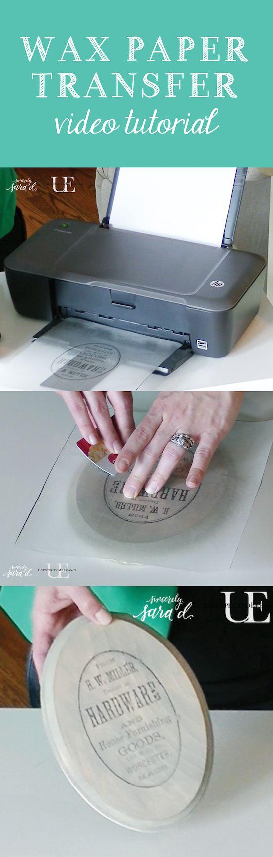 Transferência de imagem de papel de cera.